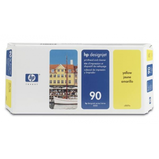 HP 90 Yellow Printhead + Printhead Cleaner, C5057A