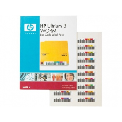 HP LTO-3 Ultrium Bar WORM Code Label Pack, Q2008A