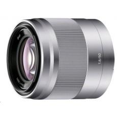 SONY SEL50F18 objektiv 50mm/F1.8 - stříbrný