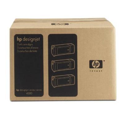 HP 90 Cyan DJ Ink Cart, 400 ml, 3-pack, C5083A