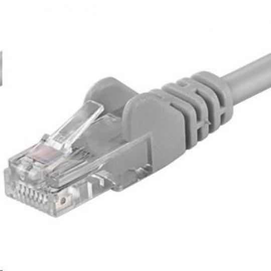 PREMIUMCORD Patch kabel UTP RJ45-RJ45 CAT5e 0.5m šedá