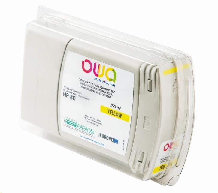 OWA Armor toner pro HP DesignJet 1050, 1055, 350ml, C4848A, Yellow