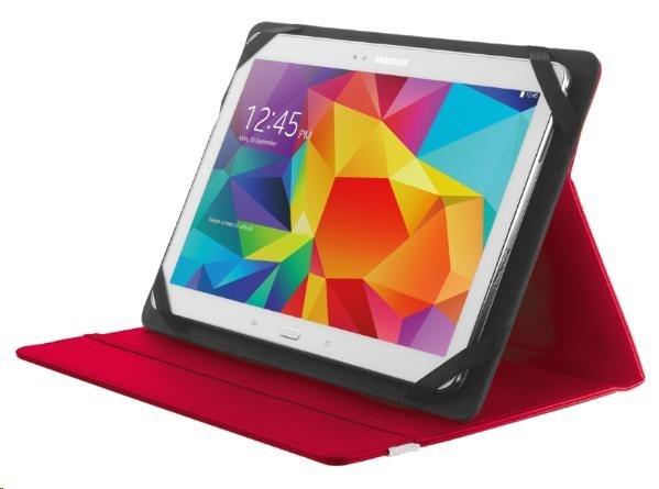 """TRUST Pouzdro na tablet 10"""" Primo Folio Stand for tablets - červené,red"""