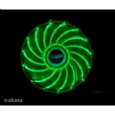 AKASA Vegas PC chladič, podsvícený, 15 led diod, zelený