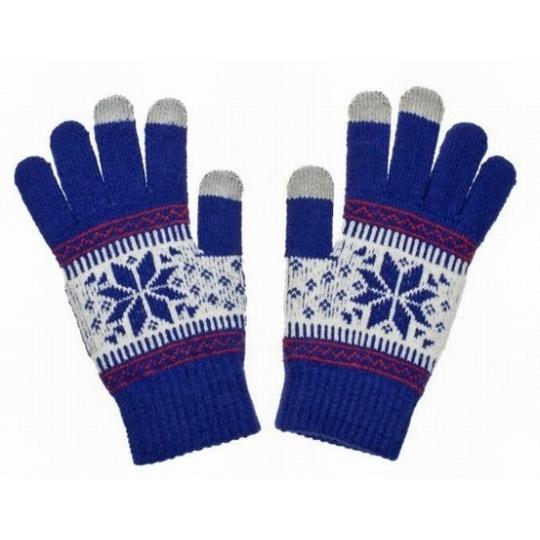 Aligator rukavice NORDIC na dotykový displej, dámské, modrá