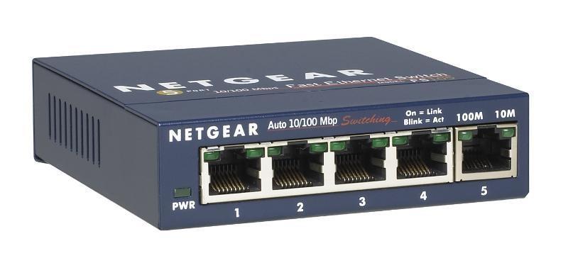 Netgear FS105 ProSafe 5x 10/100 Unmanaged Desktop Switch