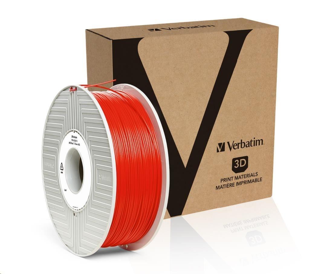 VERBATIM 3D Printer Filament ABS 1,75mm 1kg red