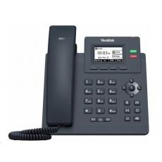 "Yealink SIP-T31 IP telefon, 2,3"" 132x64 grafický, 2x RJ45 10/100, 2x SIP, s adaptérem"