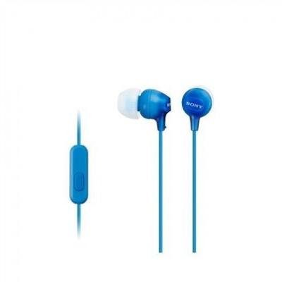 SONY stereo sluchátka MDR-EX15AP, modrá