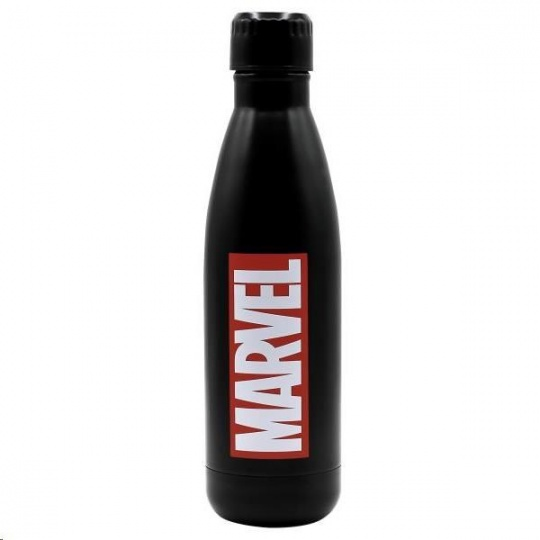 Puro Disney láhev z nerezové oceli MARVEL LOGO, single wall, 750ml Black