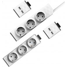 Allocacoc PowerStrip Modular Switch 1,5m + Modul Strip + 2x USB modul