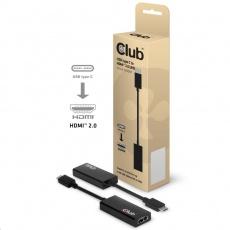 Club3D Aktivní adaptér USB 3.1 typ C na HDMI 2.0 4K60Hz UHD (M/F)