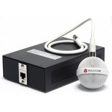 Polycom stropní mikrofon přídavný, kabeláž, instalační sada (kulatý, 3x integrovaný mikrofon), bílá
