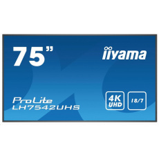 Iiyama ProLite LH7542UHS-B3, 189.2cm (74.5''), black