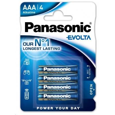 PANASONIC Alkalické baterie - EVOLTA Platinum AAA 1.5V balení - 4ks